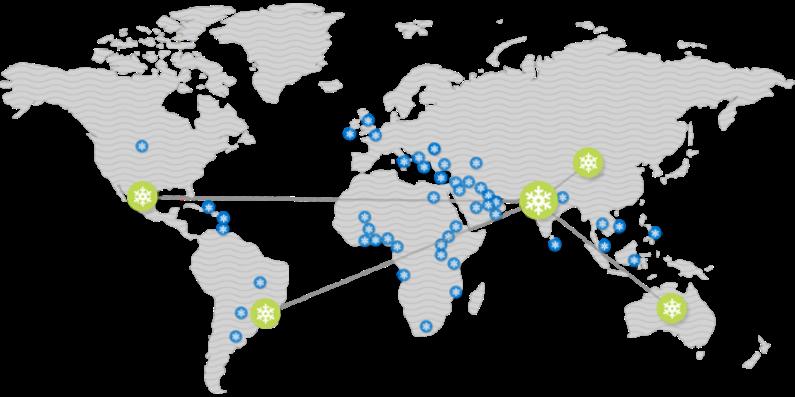 Imagen do mapa mundi - Symphony ao redor do mundo
